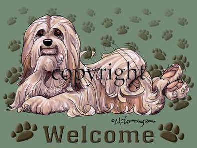 Lhasa Apso - Welcome - Mat
