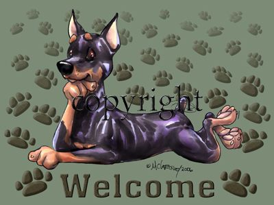 Miniature Pinscher - Welcome - Mat