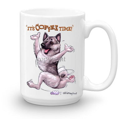 Norwegian Elkhound - Coffee Time - Mug