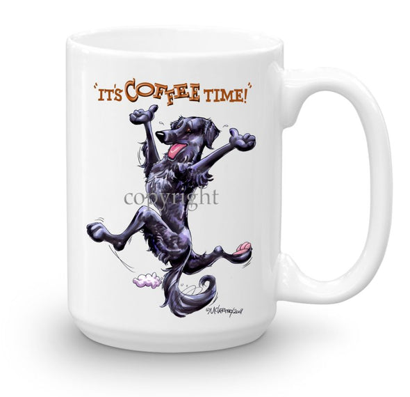 Flat Coated Retriever - Coffee Time - Mug
