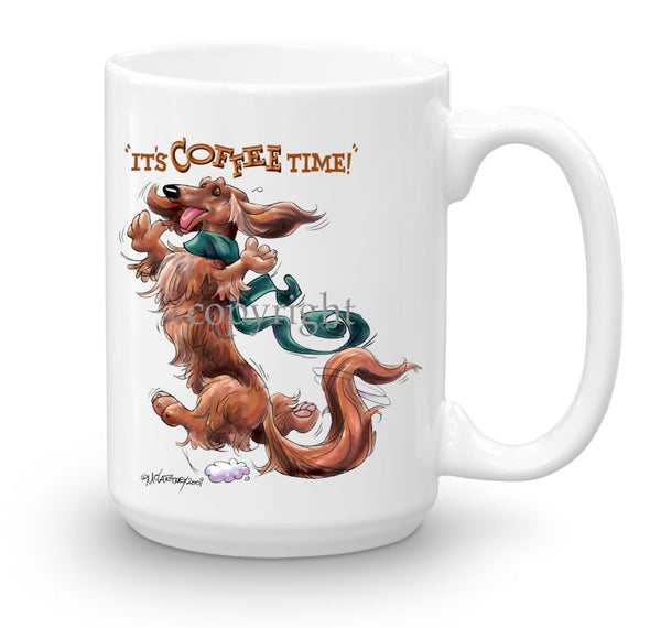Dachshund  Longhaired - Coffee Time - Mug