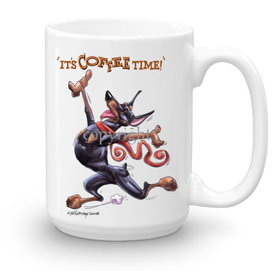 Doberman Pinscher - Coffee Time - Mug