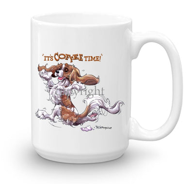 Cavalier King Charles  Blenheim - Coffee Time - Mug