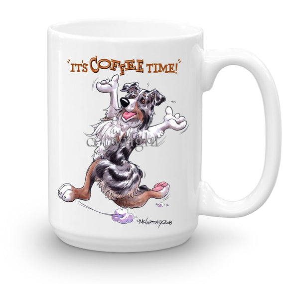 Australian Shepherd  Blue Merle - Coffee Time - Mug