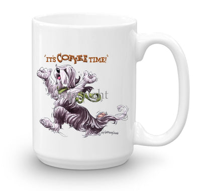 Bearded Collie - Coffee Time - Mug
