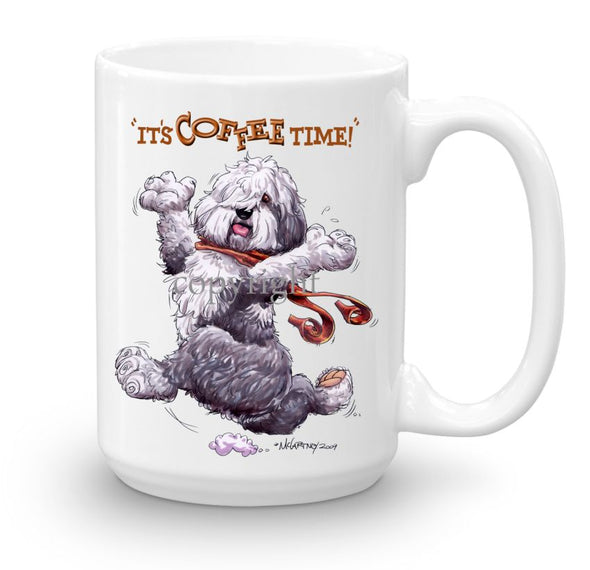 Old English Sheepdog - Coffee Time - Mug
