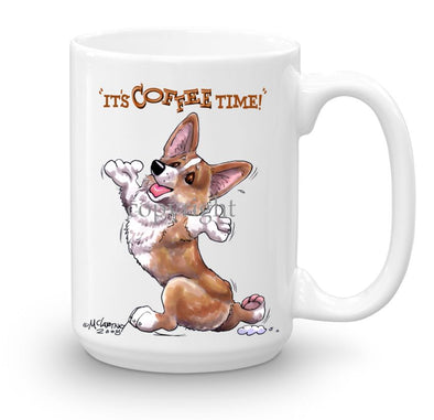 Welsh Corgi Pembroke - Coffee Time - Mug
