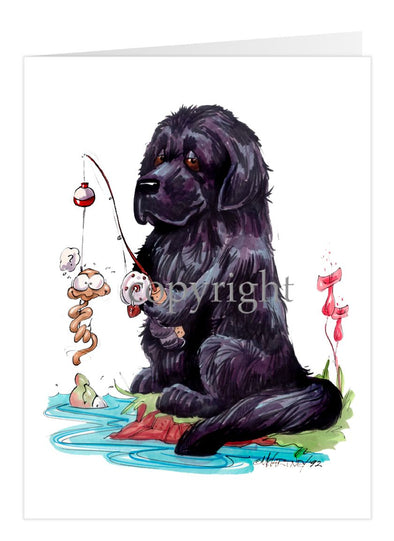 Newfoundland - Fishing - Caricature - Card