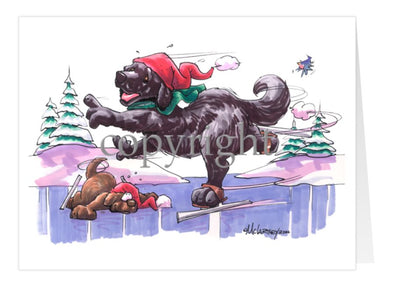 Newfoundland - Skating - Christmas Card