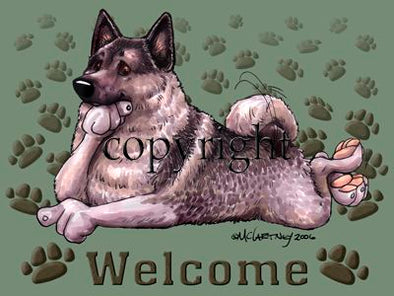 Norwegian Elkhound - Welcome - Mat
