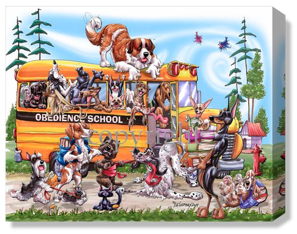 Obedience School Bus - Calendar Canvas