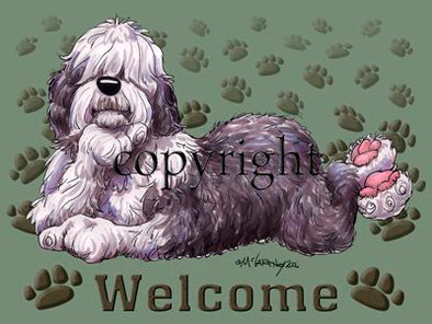 Old English Sheepdog - Welcome - Mat