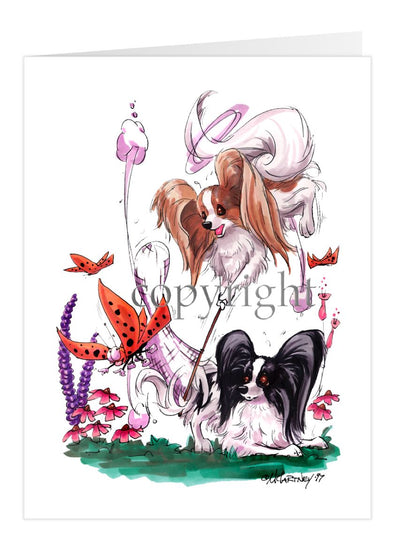 Papillon - Group Butterfly Net - Caricature - Card
