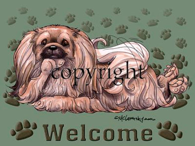 Pekingese - Welcome - Mat