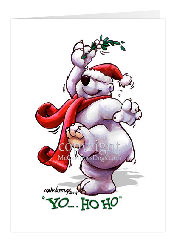 Polar Bear Under The Mistletoe - Christmas Gatherings - Christmas Card