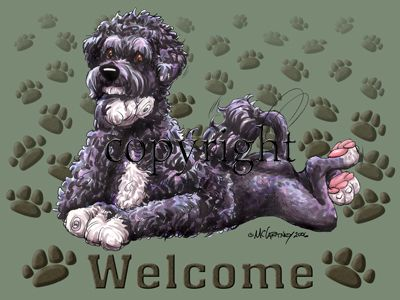 Portuguese Water Dog - Welcome - Mat