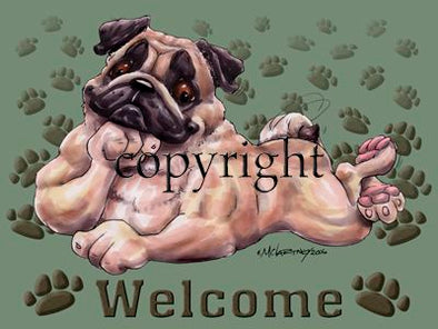 Pug - Welcome - Mat