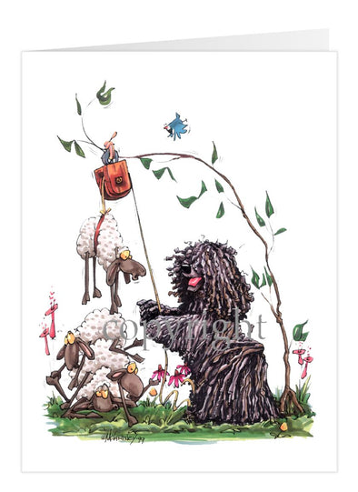 Puli - With Pulley Sheep - Caricature - Card