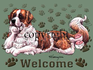 Saint Bernard - Welcome - Mat