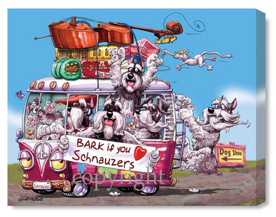 Schnauzer - Bark If You Love - Canvas
