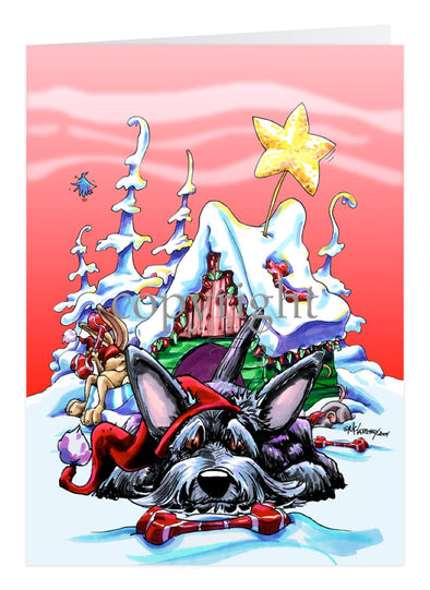 Scottish Terrier - Doghouse - Christmas Card