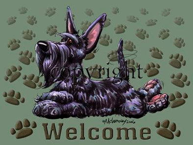 Scottish Terrier - Welcome - Mat