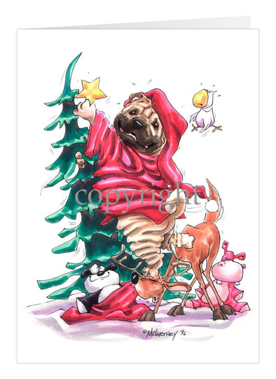 Shar Pei - Christmas Tree - Christmas Card