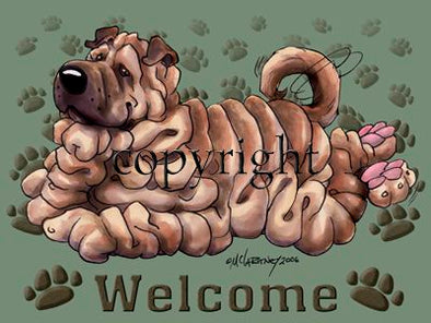 Shar Pei - Welcome - Mat