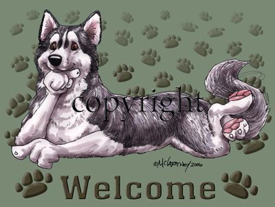 Siberian Husky - Welcome - Mat