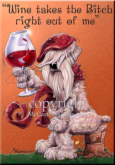 Soft Coated Wheaten - Wine Takes The Bitch - Cutting Board