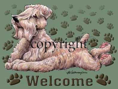 Soft Coated Wheaten - Welcome - Mat