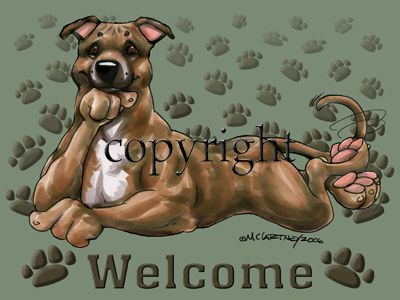 Staffordshire Bull Terrier - Welcome - Mat