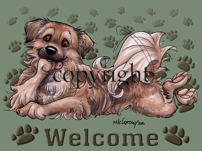Tibetan Spaniel - Welcome - Mat