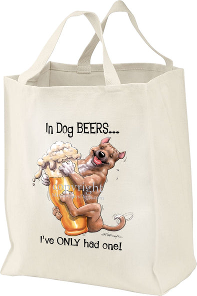 American Staffordshire Terrier - Dog Beers - Tote Bag