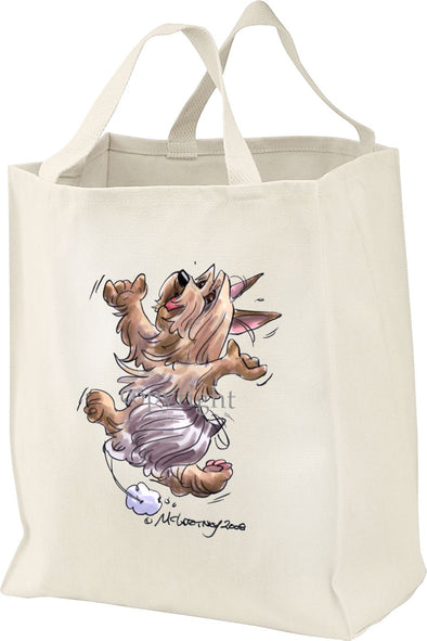 Silky Terrier - Happy Dog - Tote Bag