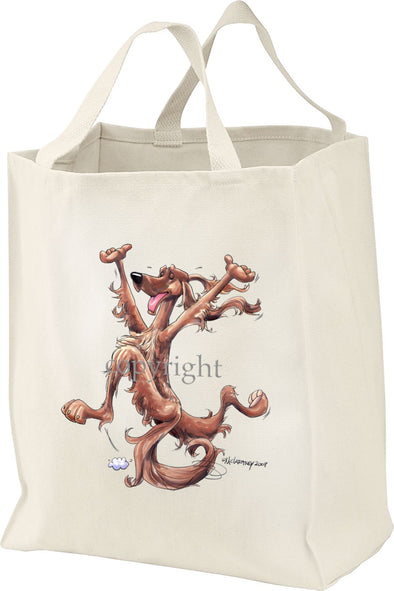 Irish Setter - Happy Dog - Tote Bag