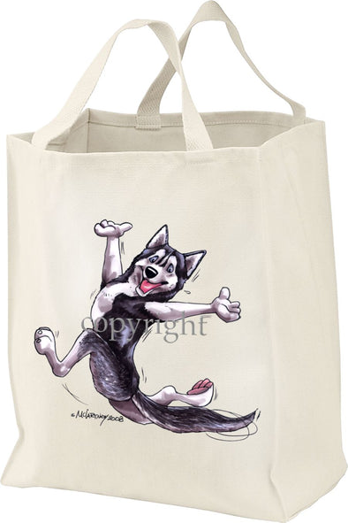 Siberian Husky - Happy Dog - Tote Bag