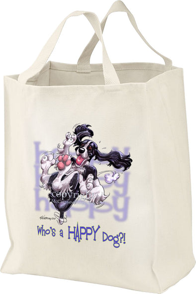English Springer Spaniel - Who's A Happy Dog - Tote Bag
