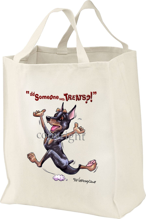 Miniature Pinscher - Treats - Tote Bag