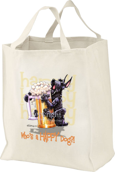 Giant Schnauzer - Who's A Happy Dog - Tote Bag