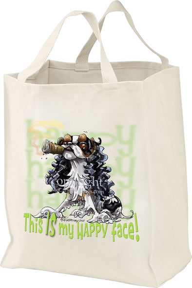 English Toy Spaniel - Who's A Happy Dog - Tote Bag