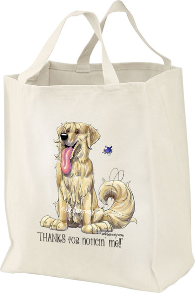 Golden Retriever - Noticing Me - Mike's Faves - Tote Bag
