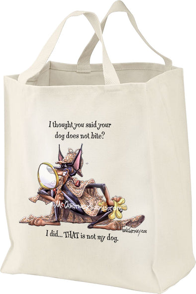 Doberman Pinscher - Detective - Mike's Faves - Tote Bag