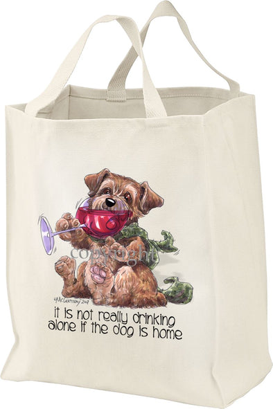 Norfolk Terrier - It's Not Drinking Alone - Tote Bag
