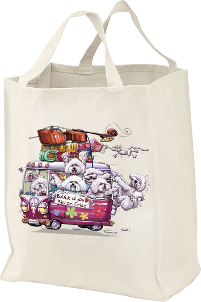 Bichon Frise - Bark If You Love Dogs - Tote Bag
