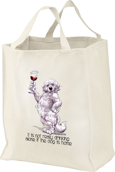 Great Pyrenees - It's Not Drinking Alone - Tote Bag