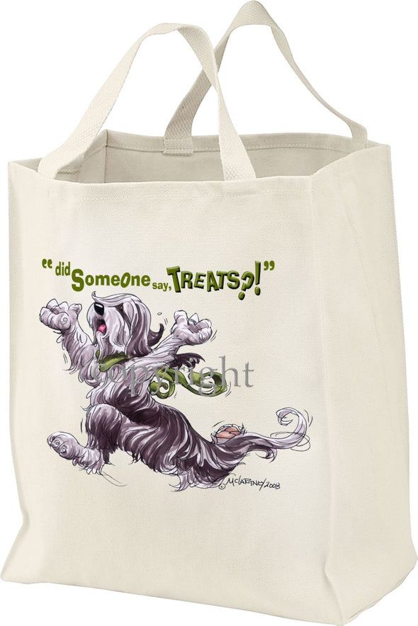 Bearded Collie - Treats - Tote Bag