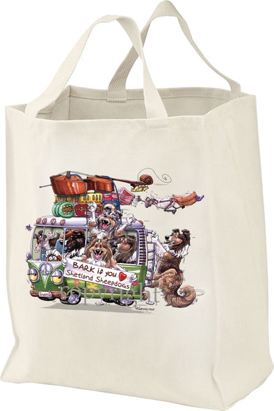 Shetland Sheepdog - Bark If You Love Dogs - Tote Bag