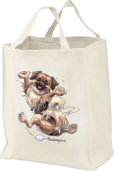 Tibetan Spaniel - Happy Dog - Tote Bag