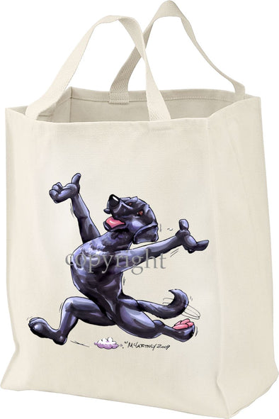 Labrador Retriever  Black - Happy Dog - Tote Bag